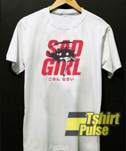 Sad Girl Kawaii t-shirt for men and women tshirt