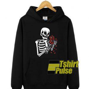 Skeleton With Roses hooded sweatshirt clothing unisex hoodie