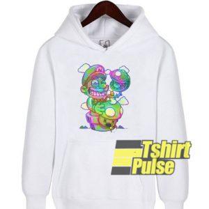 Trippy Mario hooded sweatshirt clothing unisex hoodie