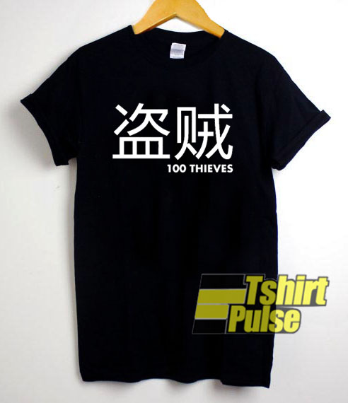 100 Thieves Japanese t shirt for men and women tshirt