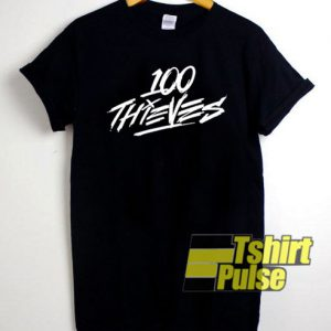 100 thieves t-shirt for men and women tshirt