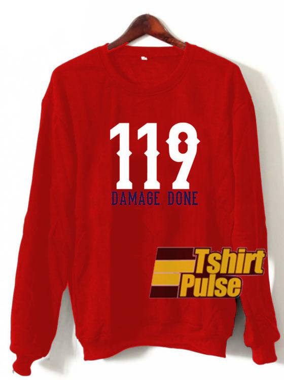 119 Damage Done sweatshirt