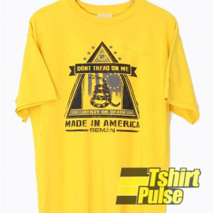 Don't Tread On Me Made In America t-shirt for men and women tshirt