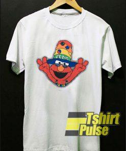 Hippie Elmo Peace Finger t-shirt for men and women tshirt