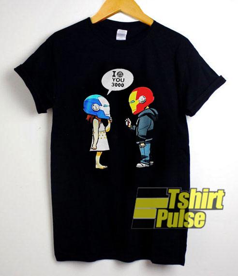 Iron Man n Morgan Stark I Love You 3000 t-shirt for men and women tshirt