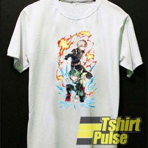Izuku Deku Midoriya vs Shoto Todoroki t-shirt for men and women tshirt