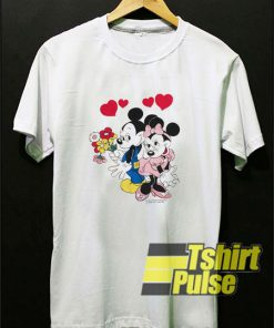Mickey and Minnie Mouse Love Scene t-shirt for men and women tshirt