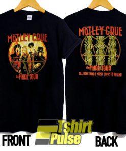 Motley Crue Vtg Concert Tour t-shirt for men and women tshirt