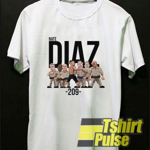 Nate Diaz Police 209 UFC t-shirt for men and women tshirt