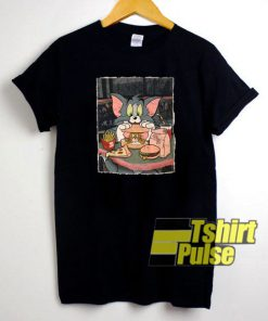 Tom Eating Junkfood Jerry t-shirt for men and women tshirt