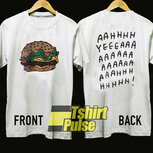 UNIQLO Burger Ah Yeah t-shirt for men and women tshirt