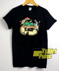 Vintage Looney Tunes Playing Pool t-shirt for men and women tshirt