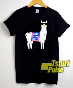 Vote For Beto Llama t-shirt for men and women tshirt
