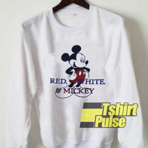 Vtg Red White Mickey sweatshirt