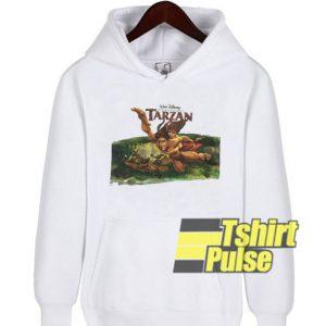 Vtg Tarzan Walt Disney hooded sweatshirt clothing unisex hoodie