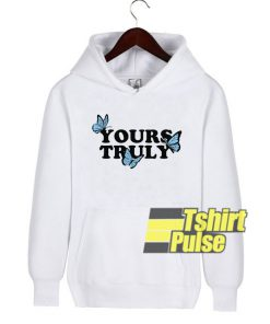 Yours Truly Butterflies hooded sweatshirt clothing unisex