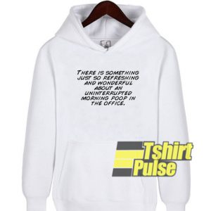About An Uninterrupted hooded sweatshirt clothing unisex hoodie
