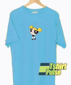 Bubbles Character Powerpuff Girl t-shirt for men and women tshirt
