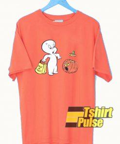 Casper The Friendly Ghost Pumpkin t-shirt for men and women tshirt