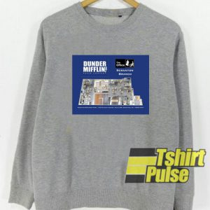 Dunder Mifflin Floor Plan sweatshirt