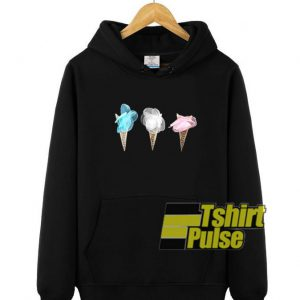 Flower Ice Cream hooded sweatshirt clothing unisex hoodie