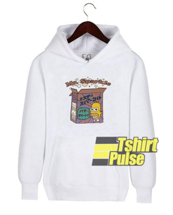 Homer Mr Sparkle hooded sweatshirt clothing unisex hoodie