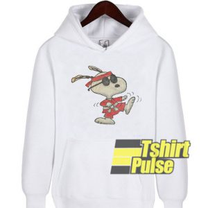Karate Snoopy hooded sweatshirt clothing unisex hoodie