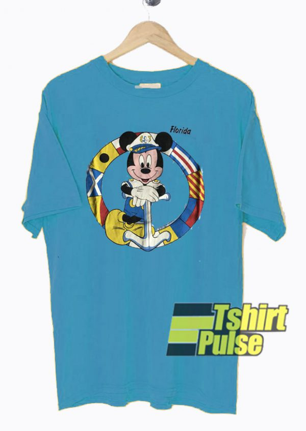 Mickey Mouse Sailor In Florida t-shirt for men and women tshirt