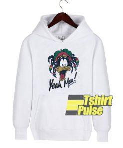 Rasta Daffy Duck hooded sweatshirt clothing unisex hoodie