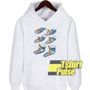 Surfer Cartoon hooded sweatshirt clothing unisex hoodie