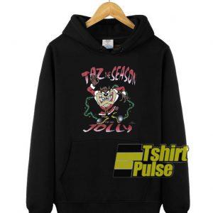 Taz The Season Christmas hooded sweatshirt clothing unisex hoodie