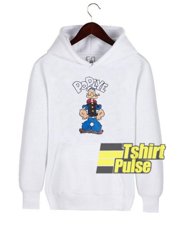 Vintage Cartoon Popeye hooded sweatshirt clothing unisex hoodie