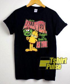 Vtg Garfield Halloween t-shirt for men and women tshirt