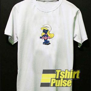 Vtg Smurfette t-shirt for men and women tshirt