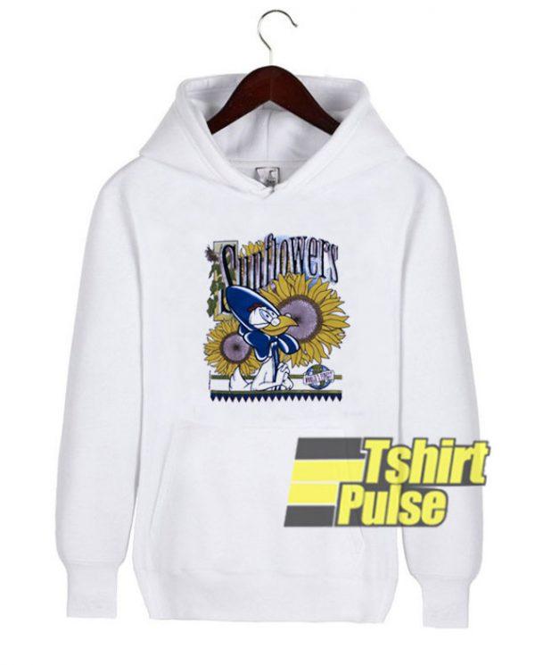 Warner Bros Sunflowers hooded sweatshirt clothing unisex hoodie