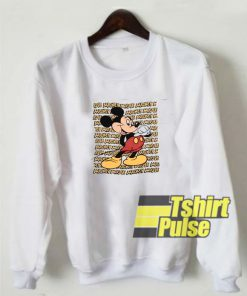 90s Mickey Mouse Cartoon sweatshirt