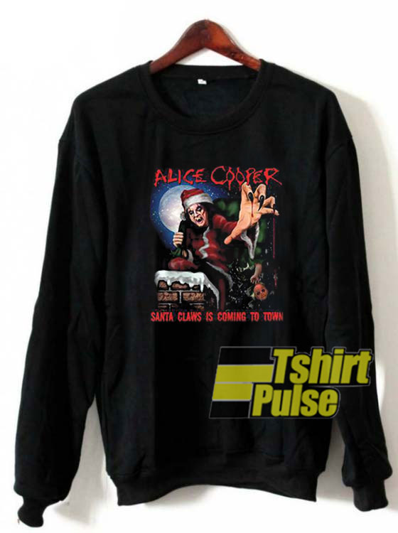 Alice Cooper Santa Claws Christmas sweatshirt