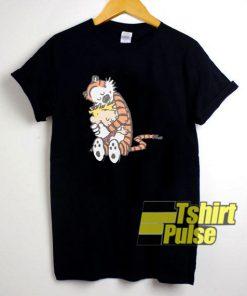 Calvin And Hobbes Hugging t-shirt for men and women tshirt