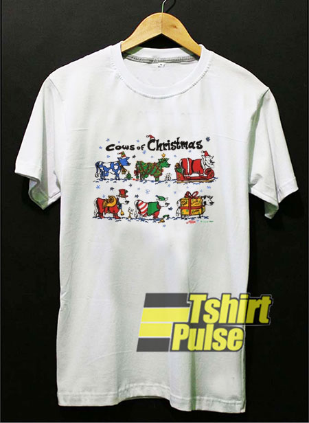 Cows of Christmas t shirt for men and women tshirt