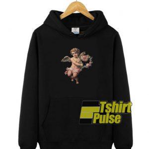 Cupid Cherub With Flower hooded sweatshirt clothing unisex hoodie