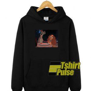 Disney Lady and the Tramp hooded sweatshirt clothing unisex hoodie