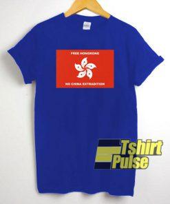 Free HongKong No China Extradition t-shirt for men and women tshirt