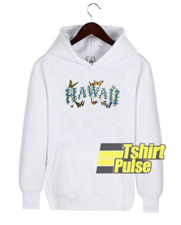 Hawaii Butterfly Art hooded sweatshirt clothing unisex hoodie