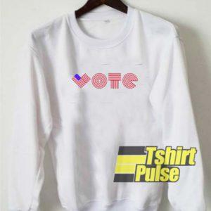 I Am A Voter Flag sweatshirt