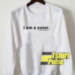 I Am A Voter Underline sweatshirt
