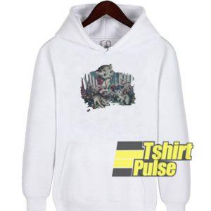 Kitten In Garden hooded sweatshirt clothing unisex hoodie