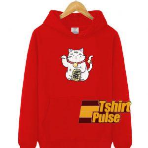 Lucky Cat hooded sweatshirt clothing unisex hoodie