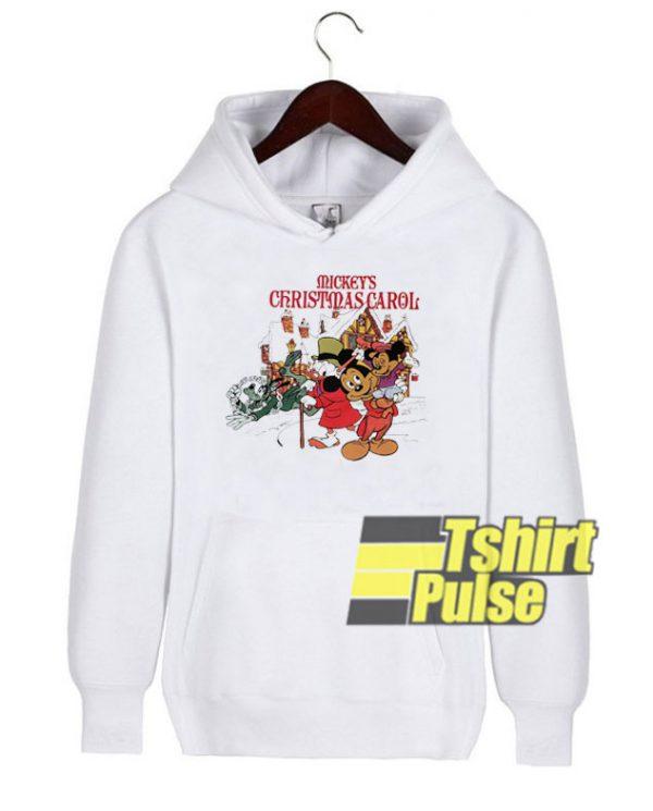Mickey's Christmas Carol hooded sweatshirt clothing unisex hoodie
