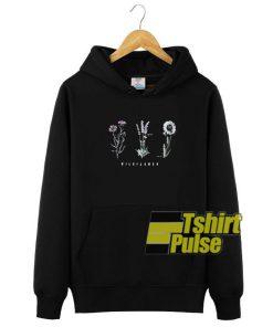 Printed Wildflower hooded sweatshirt clothing unisex hoodie