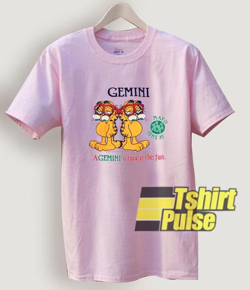 Vintage 1978 Garfield Gemini T Shirt For Men And Women Tshirt